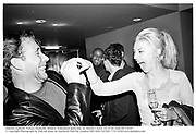 Damian Aspinall, Tamara Beckwith. Mathew Williamson party.Bar, St. Martin's hotel. 22/9/99. Film 99713f29<br />