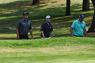Rickie Fowler (USA), Brandon Grace (RSA), and Shaun Norris (RSA) approach the green on 3 during Rd4 of the World Golf Championships, Mexico, Club De Golf Chapultepec, Mexico City, Mexico. 2/23/2020.<br /> Picture: Golffile | Ken Murray<br /> <br /> <br /> All photo usage must carry mandatory copyright credit (© Golffile | Ken Murray)