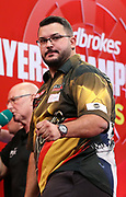 Cristo Reyes during the 2018 Players Championship Finals at Butlins Minehead, Minehead, United Kingdom on 23 November 2018.