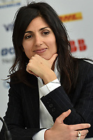 "Press Conference<br /> ""Challenges and opportunities in <br /> urban mobility""<br /> Virginia Raggi, Mayor of Rome<br /> Roma 13- 04-2018 Palazzo dei Congressi<br /> Roma E  Prix 2018 / Formula E Championship<br /> Foto Antonietta Baldassarre Insidefoto"