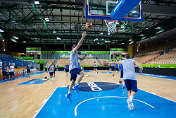 Players at practice session of team Greece 1 day before the beginning of Eurobasket 2013 on September 3, 2013 in Arena Bonifika, Koper, Slovenia. (Photo by Matic Klansek Velej / Sportida.com)