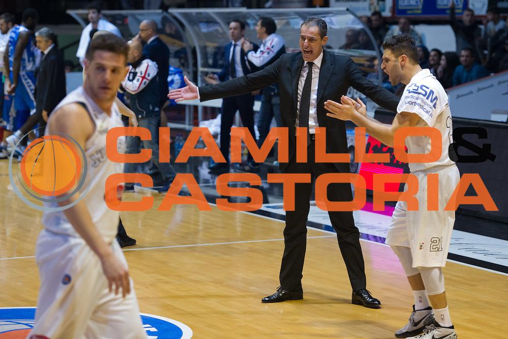DESCRIZIONE : Caserta Lega A 2015-16 Pasta Reggia Caserta Banco di Sardegna Sassari<br /> GIOCATORE : Sandro Dell'Agnello<br /> CATEGORIA : allenatore coach esultanza<br /> SQUADRA : Pasta Reggia Caserta<br /> EVENTO : Campionato Lega A 2015-2016<br /> GARA : Pasta Reggia Caserta Banco di Sardegna Sassari<br /> DATA : 13/12/2015<br /> SPORT : Pallacanestro <br /> AUTORE : Agenzia Ciamillo-Castoria/G.Masi<br /> Galleria : Lega Basket A 2015-2016<br /> Fotonotizia : Caserta Lega A 2015-16 Pasta Reggia Caserta Banco di Sardegna Sassari