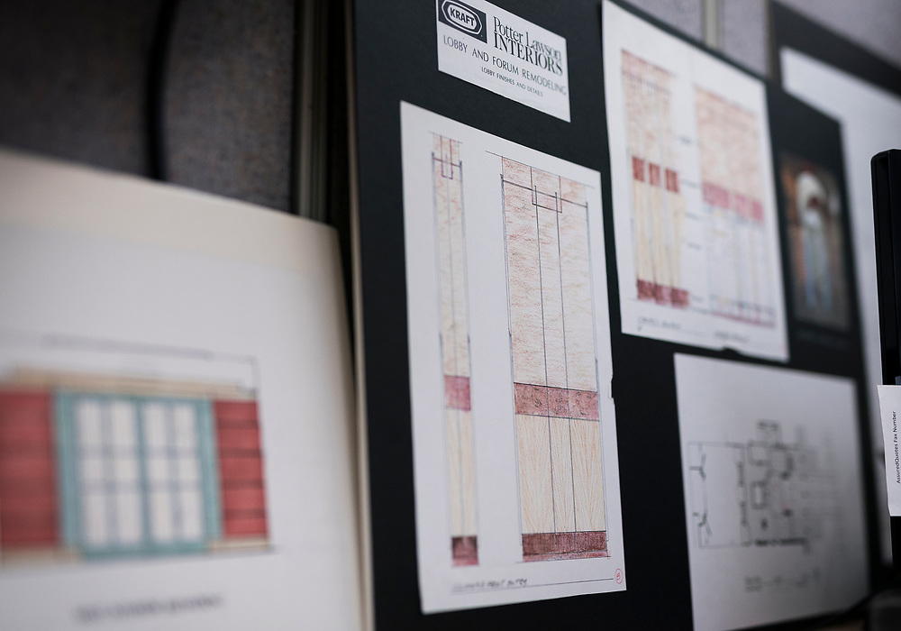 Small remnants of the Oscar Mayer headquarters building can be round around the AssuredLeads office including architectural drawings of the lobby entrance in Madison, WI on Friday, May 17, 2019.
