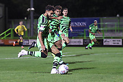 Forest Green Rovers Dominic Bernard(3) crosses the ball during the Leasing.com EFL Trophy match between Forest Green Rovers and Coventry City at the New Lawn, Forest Green, United Kingdom on 8 October 2019.