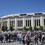 A scene outside Yankee Stadium after the New York Yankees V Oakland Athletic, American League baseball game at Yankee Stadium. The Bronx, New York USA. 4th May 2013. Photo Tim Clayton