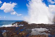 Spouting Horn, Poipu area, Island of Kauai, Hawaii USA