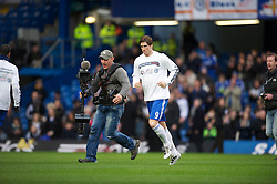 LONDON, ENGLAND - Sunday, February 6, 2011: Chelsea's new signing Fernando Torres applauds the supporters before the Premiership match against Liverpool at Stamford Bridge. (Photo by David Rawcliffe/Propaganda)