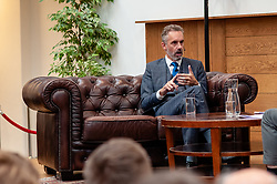 October 31, 2018 - Amsterdam, Netherlands - Interview with Jordan B. Peterson in Amsterdam, on October 31, 2018.. Dr. Jordan B Peterson is a Professor of Psychology at the University of Toronto, a clinical psychologist, a public speaker, and a creator of Self Authoring. His YouTube channel has gathered more than 1.3 million subscribers and his videos have received more than 65 million views as of August 2018. He is widely known because of his influential but also controversial analyses from current social and political problems. Inviting the Canadian psychologist Jordan Peterson in the UvA interview series 'Room for Discussion' elicited an angry protest letter signed by eighty UvA (University of Amsterdam) staff and students. (Credit Image: © Romy Arroyo Fernandez/NurPhoto via ZUMA Press)