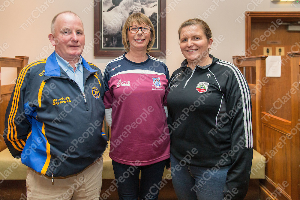 Div 4 Group A, Mick McInerney Banner Ladies, Annette Reidy Doora Barefield and Sharon Quin Clarecastle