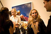MARISSA MONTGOMERY AND NATALIE DE CLERMOND,  Alex Prager's The Big Valley exhibition.  Michael Hoppen Contemporary.Jubilee Place. London. 24 April 2008.  *** Local Caption *** -DO NOT ARCHIVE-© Copyright Photograph by Dafydd Jones. 248 Clapham Rd. London SW9 0PZ. Tel 0207 820 0771. www.dafjones.com.