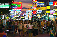 Night on Khaosan Road Bangkok Thailand&#xA;<br />