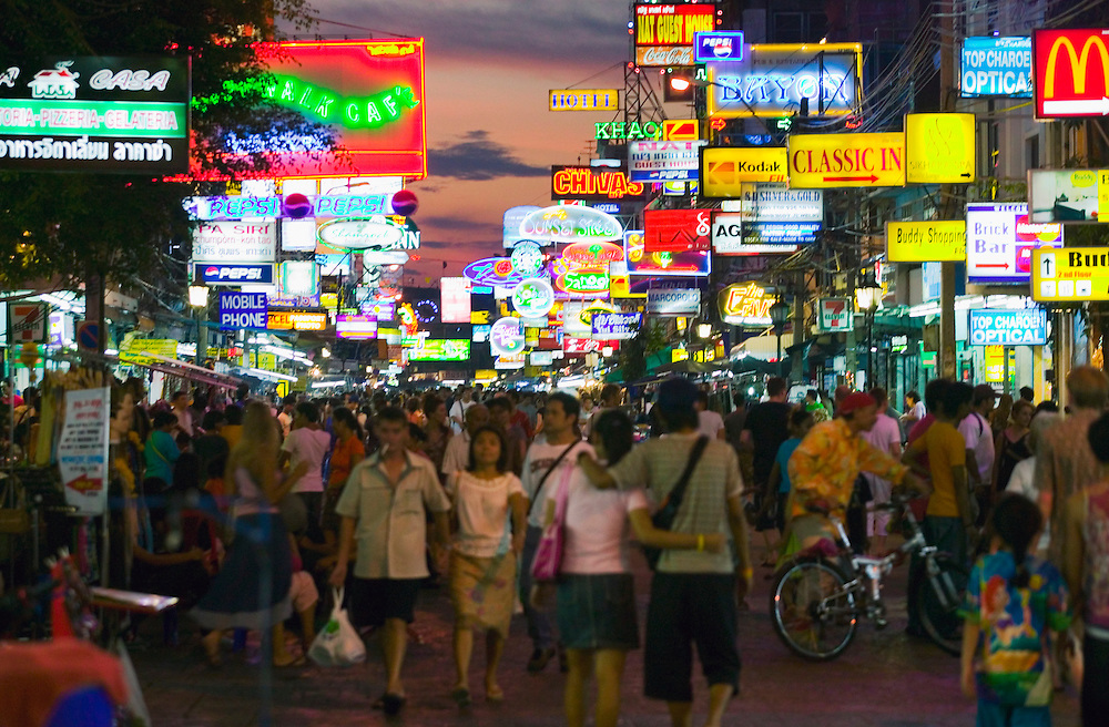 Night on Khaosan Road Bangkok Thailand&amp;#xA;<br />