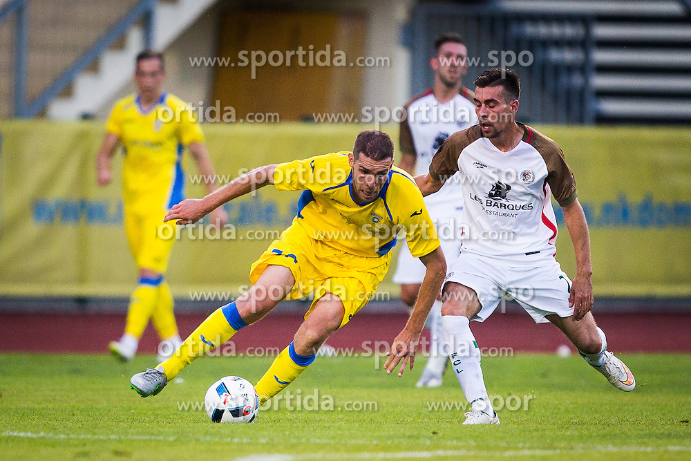 Luka Zinko of NK Domzale during football match between NK Domzale and FC Lusitanos Andorra in first match of UEFA Europa League Qualifications, on June 30, 2016 in Sports park Domzale, Domzale, Slovenia. Photo by Ziga Zupan / Sportida