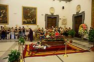 Roma 6 Agosto 2012.Il funerale di Renato Nicolini ex Assessore alla Cultura del comune di Roma nel periodo 1976 - 1985 e inventore dell'Estate Romana, nella sala della  Promototeca  in Campidoglio.