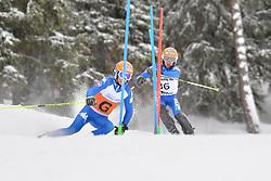 BERTAGNOLLI Giacomo Guide: CASAL Fabrizio, B3, ITA at 2018 World Para Alpine Skiing World Cup slalom, Veysonnaz, Switzerland