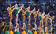SAN DIEGO, CA - MARCH 18:  West Virginia Mountaineers and Marshall Thundering Herd cheerleaders perform during a second round game of the Men's NCAA Basketball Tournament at Viejas Arena in San Diego, California.  (Photo by Sam Wasson)