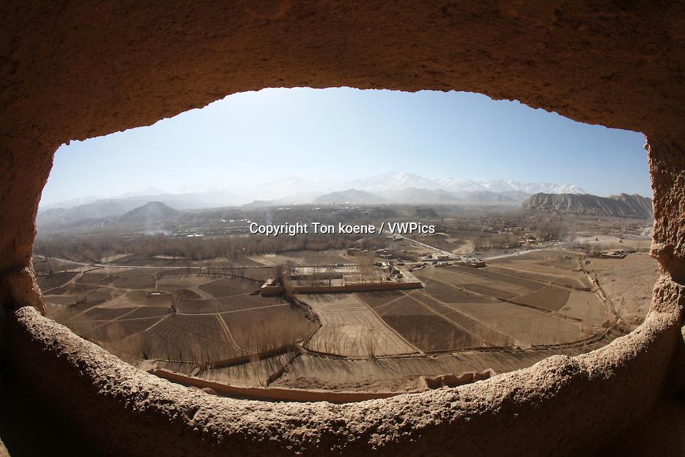 Buddha caves in bamyan, Afghanistan