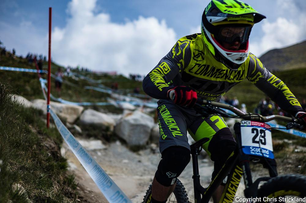 Nevis Range, Fort William, Scotland, UK. 4th June 2016. The worlds leading mountain bikers descend on Fort William for the UCI World Cup on Nevis Range.