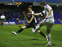 Photo: Paul Thomas.<br /> Tranmere Rovers v Bristol City. Coca Cola League 1. 08/09/2006.<br /> <br /> Bristol's Richard Keogh (L) can't stop Shane Sherriff from clearing the ball.