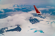 Aerial photography of Spitsbergen, Svalbard, Norway