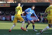 AFC Wimbledon defender George Francomb (7) and Millwall midfielder Shaun Williams (6) during the EFL Sky Bet League 1 match between AFC Wimbledon and Millwall at the Cherry Red Records Stadium, Kingston, England on 2 January 2017. Photo by Stuart Butcher.