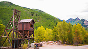 Mine shaft at the Rico silver mine, Rico, Colorado USA