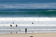Surfers at Salt Creek Beach in Dana Point California