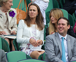 LONDON, ENGLAND - Saturday, July 5, 2014: Martina Hingis during the Ladies' Singles Final match on day twelve of the Wimbledon Lawn Tennis Championships at the All England Lawn Tennis and Croquet Club. (Pic by David Rawcliffe/Propaganda)