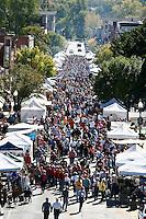 Folklife festival in Hannibal, MO on Main Street