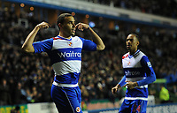 Football - Barclays Premier League - Reading vs. Manchester United<br /> Hal Robson-Kanu of Reading celebrates scoring the opening goal (1-0) at the Madejski Stadium, Reading