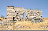 Ruins of the theatre in Roman town of Acinipo, Ronda la Vieja, Andalucia.