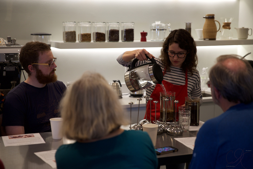 Slow Food ABQ & Red Rock Roasters put on a great Coffee Tasting 101 event...great event and a bonanza of knowledge and tips for brewing that perfect cup at home!