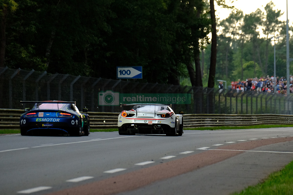 June 17, 2018 - Le Mans, Sarthe, France - TF Sport. Aston Martin Vantage Driver SALIH YOLUC (TUR) in action during the 86th edition of the 24 hours of Le Mans 2nd round of the FIA World Endurance Championship at the Sarthe circuit at Le Mans - France (Credit Image: © Pierre Stevenin via ZUMA Wire)