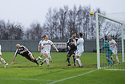 Dundee&rsquo;s Gary Harkins header goes narrowly over the bar - Dumbarton v Dundee, William Hill Scottish Cup fifth round at The Cheaper Insurance Direct Stadium <br /> <br />  - &copy; David Young - www.davidyoungphoto.co.uk - email: davidyoungphoto@gmail.com