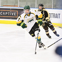 1st year forward Jenna Grube (7) of the Regina Cougars in action during the Women's Hockey home game on January 27 at Co-operators arena. Credit: Arthur Ward/Arthur Images