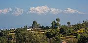 White peaks over Bandipur (Nepal)
