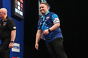 Martin Schindler reaction after missing a dart at a double during the Grand Slam of Darts, at Aldersley Leisure Village, Wolverhampton, United Kingdom on 11 November 2019.