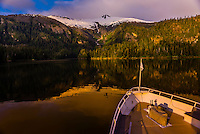 Wilderness Explorer moored in Takatz Bay, Baranof Island, Inside Passage, Southeast Alaska USA.