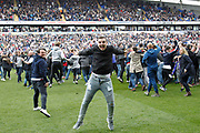 It's all over and Bolton are promoted to the Championship - time for the pitch invasion after the EFL Sky Bet League 1 match between Bolton Wanderers and Peterborough United at the Macron Stadium, Bolton, England on 30 April 2017. Photo by Craig Galloway.