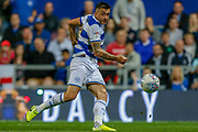 Queens Park Rangers forward Jordan Hugill (9) during the EFL Sky Bet Championship match between Queens Park Rangers and Swansea City at the Kiyan Prince Foundation Stadium, London, England on 21 August 2019.