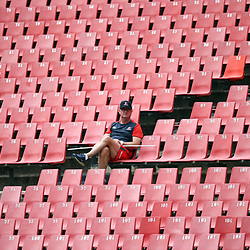 Swys de Bruin of the Emirates Lions during the Emirates Lions Captain Run at the Emirates Airlines Park, South Africa. 23 February 2018 (Photo by Steve Haag/UAR)