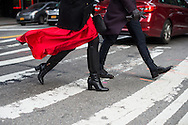 Red Skirt and Boots, Outside NYFWM Day 1