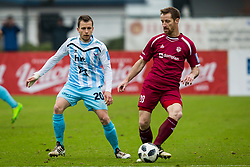 Dejan Zigon of ND Gorica and Vlado Smit of NK Triglav Kranj during football match between NK Triglav Kranj and ND Gorica in Round #24 of Prva Liga Telekom Slovenije 2017/18, on March 18, 2018 in Sportni park Kranj, Kranj, Slovenia. Photo by Ziga Zupan / Sportida