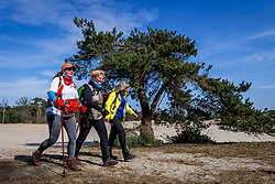 18-03-2018 NED: We hike to change diabetes, Soest<br /> Training voor de Camino 2018 op de Soesterduinen / Juliet, Mirjam, Petra