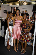 REBECCA ADERINOLA; ECHEMA OBIKA; FISAYO TUOYO, WEARING CLOTHES BY DANIELLE MORGAN; FashionExpo, fashion show and Awards. Business Design Centre, Upper st. London. 19 November 2008.  *** Local Caption *** -DO NOT ARCHIVE -Copyright Photograph by Dafydd Jones. 248 Clapham Rd. London SW9 0PZ. Tel 0207 820 0771. www.dafjones.com