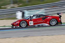 April 14, 2018 - Estoril, Estoril, Portugal - Ferrari 488 GT3 of Luzich Racing driven by Alessandro Pier Guidi and Mikkel Mac during Race 1 of International GT Open, at the Circuit de Estoril, Portugal, on April 14, 2018. (Credit Image: © Dpi/NurPhoto via ZUMA Press)