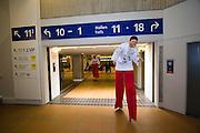 ITB (Internationale Tourismusbörse) 2005, World's largest tourism fair..Polish stilt walkers.
