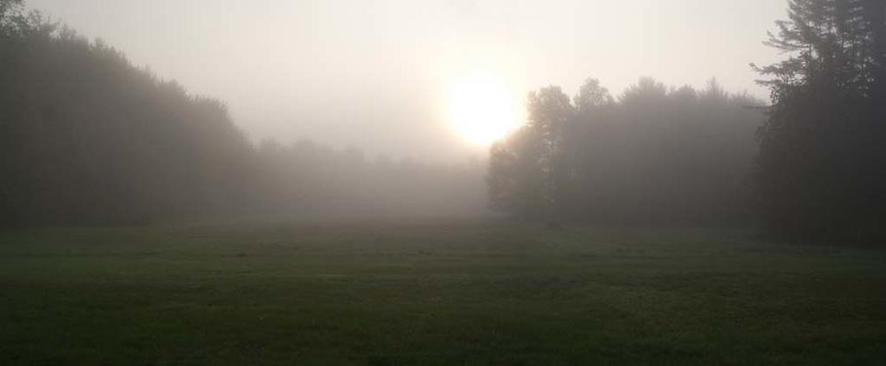 misty Vermont sun rise