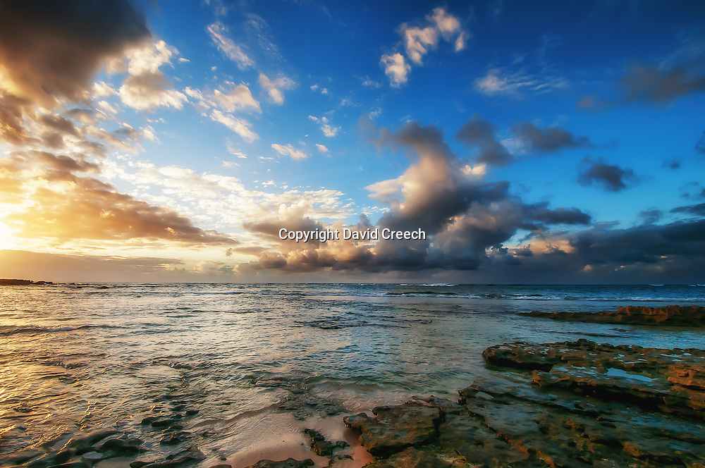 Sunset from Sunset Beach in Honolulu, Hawaii