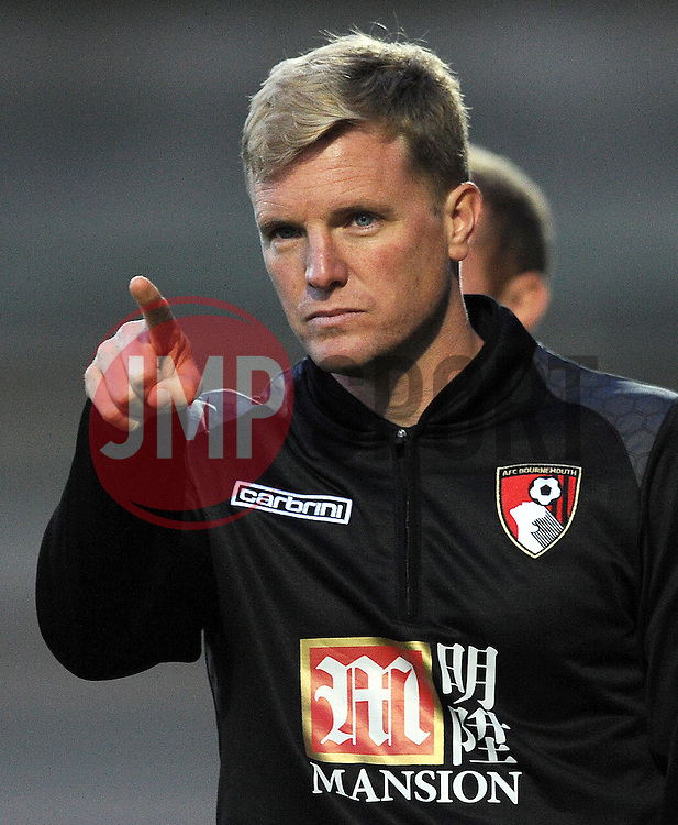 Bournemouth's Manager Eddie Howe. - Photo mandatory by-line: Harry Trump/JMP - Mobile: 07966 386802 - 28/07/15 - SPORT - FOOTBALL - Pre Season Fixture - Yeovil Town v Bournemouth - Huish Park, Yeovil, England.